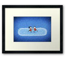 Christmas Ice Skating Framed Print