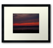 Tranquil Red Framed Print