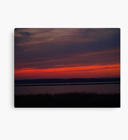 Tranquil Red Canvas Print