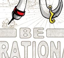 Irrational Pi Day Pirate Sticker