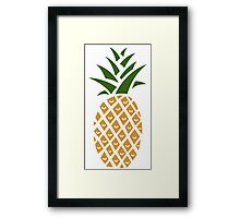 Pineapple (one) Framed Print