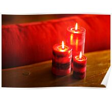 Three Red Candles Poster