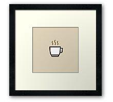 Coffee Icon - Drinks Series Framed Print
