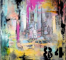 New York Times Square and Taxi Series #84 by modernhomedeco