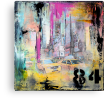 New York Times Square and Taxi Series #84 Canvas Print