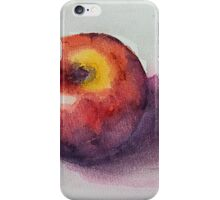 Red Apple watercolor study iPhone Case/Skin
