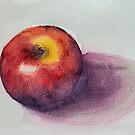 Red Apple watercolor study by zummerfish