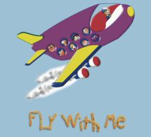 Fly With Me T-shirt, etc. design Baby Tee