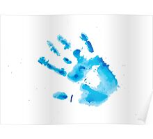 Watercolor hand print Poster