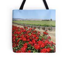 Winery Roses Tote Bag