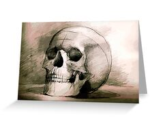 Hand drawing scull Greeting Card