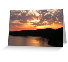Sunrise Over Saanich Inlet Greeting Card
