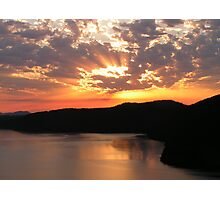 Sunrise Over Saanich Inlet Photographic Print