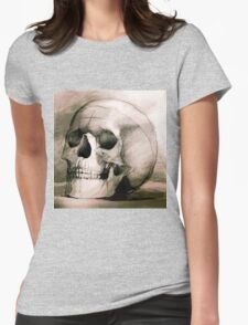 Hand drawing scull Womens Fitted T-Shirt