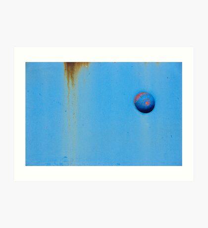 Button Blue Art Print