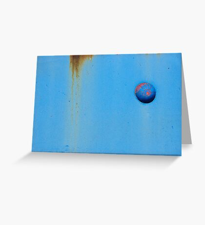 Button Blue Greeting Card
