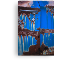 Dripping on Blue Canvas Print