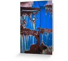 Dripping on Blue Greeting Card