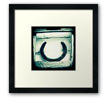 Horseshoe Framed Print