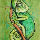 green chameleon  (original sold) by federico cortese