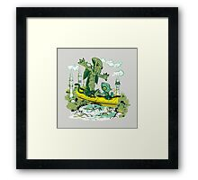 DAGONIN AND CTHULOBBES Framed Print