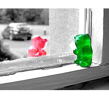Green And Red Gummy Bear Love Photographic Print