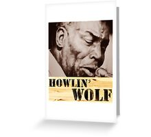 Howlin' Wolf (ink portrait ) Greeting Card