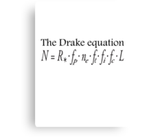 Aliens, The Drake equation, SETI, Alien, search for extraterrestrial life, Contact, Is there anyone there? Canvas Print