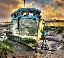 Old Boat at Sunderland Point by Steve  Liptrot