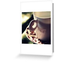 sweet anticipation or waiting for coffee Greeting Card