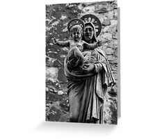 Virgin Mary with Jesus Christ Greeting Card