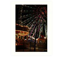 Ferris Wheel and Merry-go-round Art Print