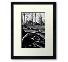Saturday Drive in Patch Black and White Framed Print