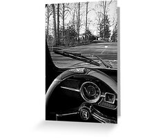 Saturday Drive in Patch Black and White Greeting Card