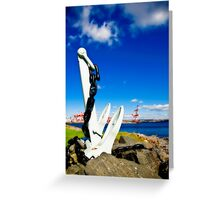 Anchored in Halifax Greeting Card