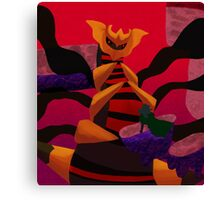 Brb fighting pokemon satan Canvas Print