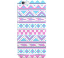 Tribal pattern pink blue iPhone Case/Skin