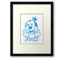 F#CK Blue Framed Print
