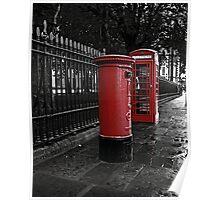 London Phone Box and Royal Mail Postal Box Poster