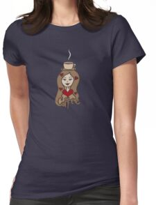 CoFFeE HeAd Womens Fitted T-Shirt