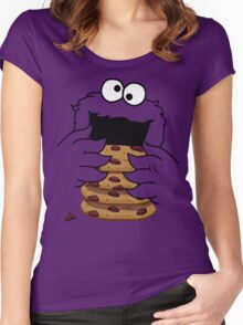 Cookie Monster Women's Fitted Scoop T-Shirt