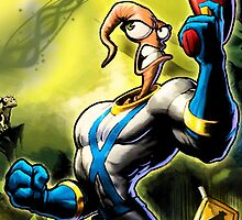 Earthworm Jim! by Dannersart