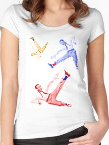 Jumping Fred Flash 1 Women's Fitted Scoop T-Shirt