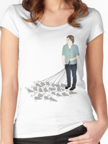 Camerons pet seagulls Women's Fitted Scoop T-Shirt