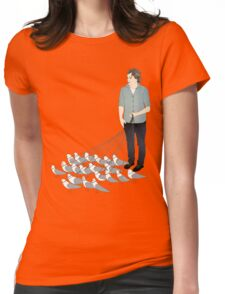 Camerons pet seagulls Womens Fitted T-Shirt