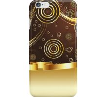 Brown and Gold Background iPhone Case/Skin