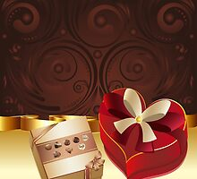 Brown Background with Chocolate Box 3 by AnnArtshock