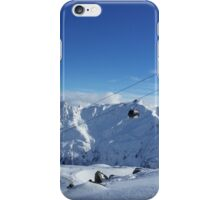 Skiing lift iPhone Case/Skin