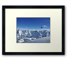 Skiing lift Framed Print