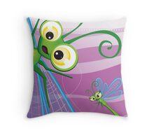 Critterz - Dragonfly 2 Throw Pillow